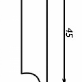 фото плінтуса лучіано білий М1 -1